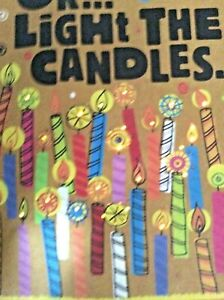 "FRIEND Musical Birthday card + LIGHTS  UP  / Song ""Great Balls of Fire"" Hallmark"