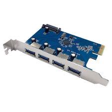 X-MEDIA XM-UB3204 4-Port USB 3.0 PCI Express PCIe Host Controller Adapter Card