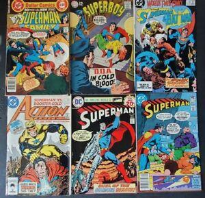 SUPERMAN LOT OF VINTAGE BRONZE & COPPER AGE DC COMICS LEX LUTHOR! BOOSTER GOLD!+