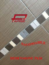 Listello fascia gres porcellanato sagomabile su rete decoro rivestimento 5X30