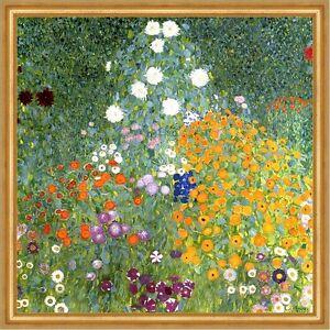 Bauerngarten Landschaftsbild Blumenwiese Natur Blumen LW Gustav Klimt A1 039