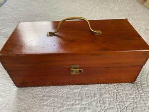 Rare Vintage KADA Wooden Tackle Box Houston Texas