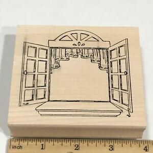 OPEN WINDOW Rubber Stamp ART IMPRESSIONS