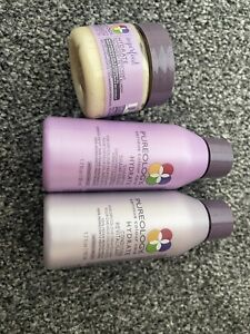 New Pureology Hydrate Superfood Treatment Mask Shampoo & Conditioner Travel Size