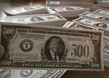 "A Pair of DONALD TRUMP $500 DOLLAR (NOVELTY BILL) ""ORIGINAL 2016 PRINTING"""