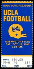 College Football Ticket UCLA Bruins 1988 10/29 Washington State Cougars Troy Aik
