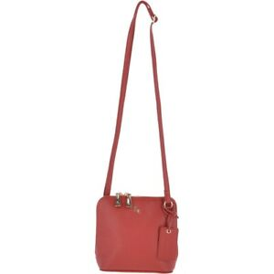 ASHWOOD Real Leather Zip Around Small 3 Section Cross Body Bag Fuschia Pink New