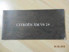 catalogue CITROEN XM V6 24 invitation a découvrir 24 soupapes ss haute tension