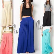 Hand-wash Only Solid Maxi Skirts for Women