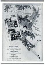 Restaurant Ratsweinkeller Schoneberg 1929 ad Berlin advertising by A. Cay +
