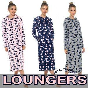 Ladies long  Sleeve Night Shirt Nightdress Nightie LOUNGEWEAR  womens COTTON