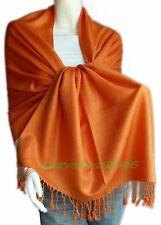 Elegant Pashmina Cashmere Scarf Wool Shawl/Wrap/Orange