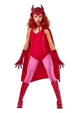 Women's Deluxe Scarlet Witch Wanda Vision Marvel Costume SIZE XS (with defect)