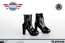 1/6 BLACK Ankle Boots Shoes HOLLOW for CUSTOM 12'' Female Figure Accessory