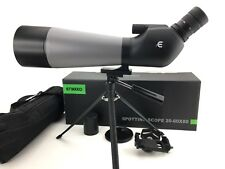 ENKEEO Waterproof Angled Spotting Scope & Tripod 20-60X80 Multi-Coated Lens NEW