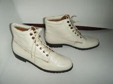 9 & Co  Granny Grunge Beige Boots Size 6.5 M Women's