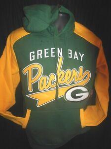 Green Bay Packers NFL Men's G-III Front and back Design Hood Sweatshirt 2X or 4X
