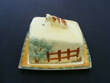 Paramount pottery England fromage/beurrier Cottage style avec plat