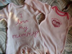 Bundle of small baby girl clothes/dolls clothes.