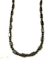 """Men Women's Black Hematite Magnetic Beads Strand Choker Necklace 18"""""""