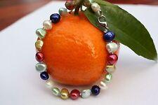 B24 echte Süßwasser Perlen Schmuck Perlenarmbänder Armschmuck Armbänder Collier