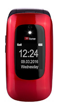 TTfone Lunar TT750 Big Button Simple Easy Clamshell Unlocked Flip Mobile Phone -