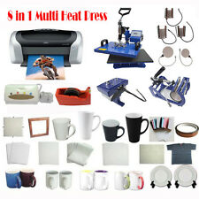8IN1 Heat Press sublimation printer ink sublimation blanks t-shirt transfer kit