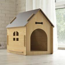 Hundehütte aus Holz Hunde-Haus für Drinnen und Draußen Schlafplatz für Haustiere