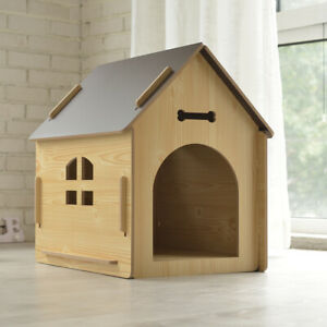 Kennel Made of Wood Hunde-Haus For Inside And Outdoor Sleeping Area For Pets