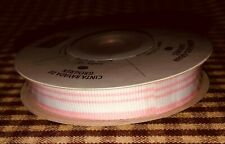 Stampin Up!   Ribbon  STRIPED GROSGRAIN PRETTY IN PINK  New  Retired
