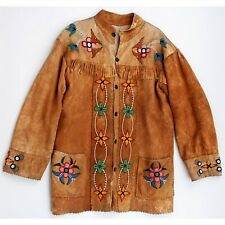 1930s Native American Northern Plains / Cree Indian Bead Decorated Hide Jacket