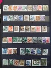 M711. ITALIE. 5 pages timbres oblitérés quelques neufs