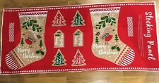 Merry Christmas Stocking Sewing Panel New