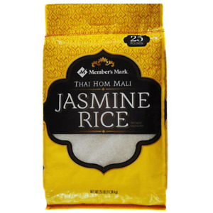 Member's Mark Thai Hom Mali Fragrant Jasmine White Rice, Long Grain (25 lb.)