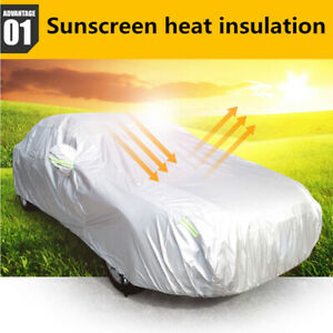 Heavy Duty Waterproof Full Car Cover All Weather Protection Outdoor Dustproof 3L
