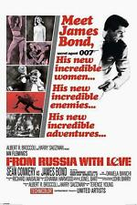 """JAMES BOND POSTER """"FROM RUSSIA WITH LOVE # 2"""""""