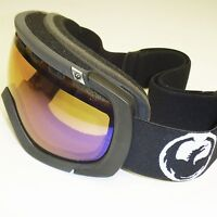 NEW Dragon Rogue Goggles-Coal (Black)/Amber-Blue Ion Lens -Snow Ionized 722-1437