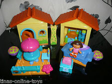 ***DORA THE EXPLORER MEGA BLOKS BUILDABLE HOUSE COLLECTION INC DORA FIGURE***VGC