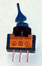 SPST Lighted Toggle Sw 20 AMP @ 12 VDC Blue ASW101-B
