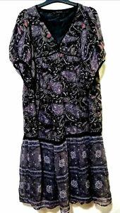 Zara Basic Paisley Silk  Midi Dress