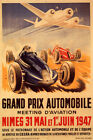 1947 Grand Prix Automobile Car Racing Airplane Vintage Poster Repro FREE S/H
