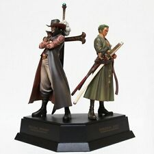 One Piece ZORRO ZORO & Mihawk Anime Manga Figuren Set H:21cm Neu