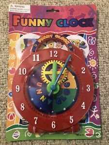 """Teaching Time Clock Child Guidance Toys Learn to tell Time Funny Clock 7"""" NEW!"""