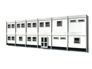 LASER CUT MODULAR TEMPORARY SITE OFFICES KIT OO SCALE MODEL RAILWAY LX390-OO