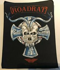 More details for vintage razamataz roadrat  rock back patch large 37 x 29cm metal biker