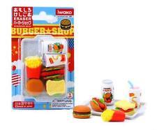 Japanese Iwako Fast Food Take Apart Party Eraser Set #1099 S-1842