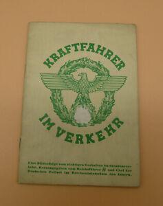 KRAFTFAHRER IM VERKEHR 1938 ORIGINAL HEFT BILDGUT VERLAG
