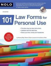 101 Law Forms for Personal Use (Book & CD-Rom)-ExLibrary