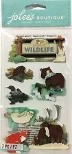 JOLEE'S BOUTIQUE DIMENSIONAL LARGE STICKERS ~FOREST WILDLIFE