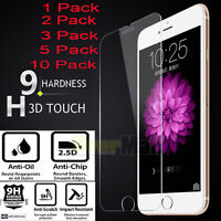 10PCS  Tempered Glass Screen Film Protector For Apple IPhone 6 6S 7 7 Plus SE 5S
